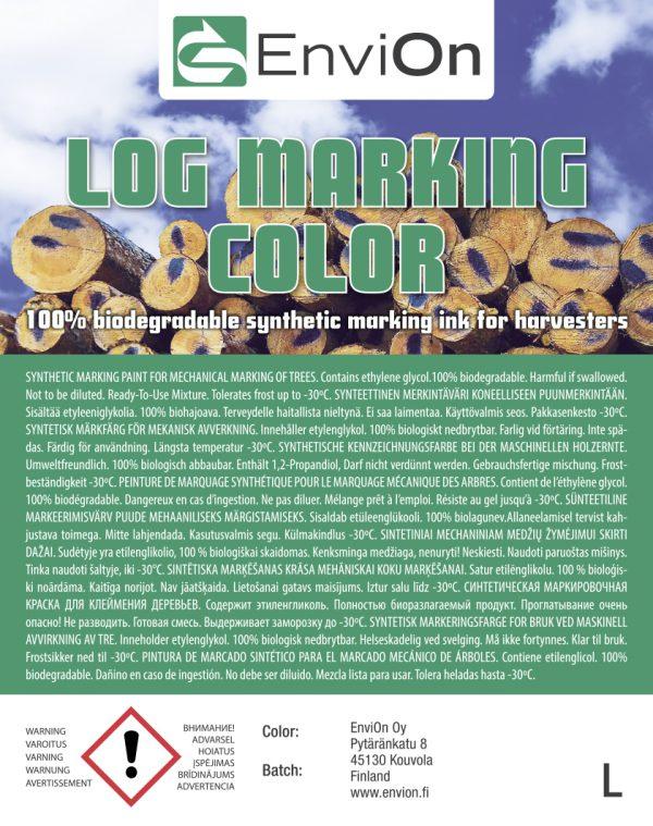 Log Marking Color produktetikett